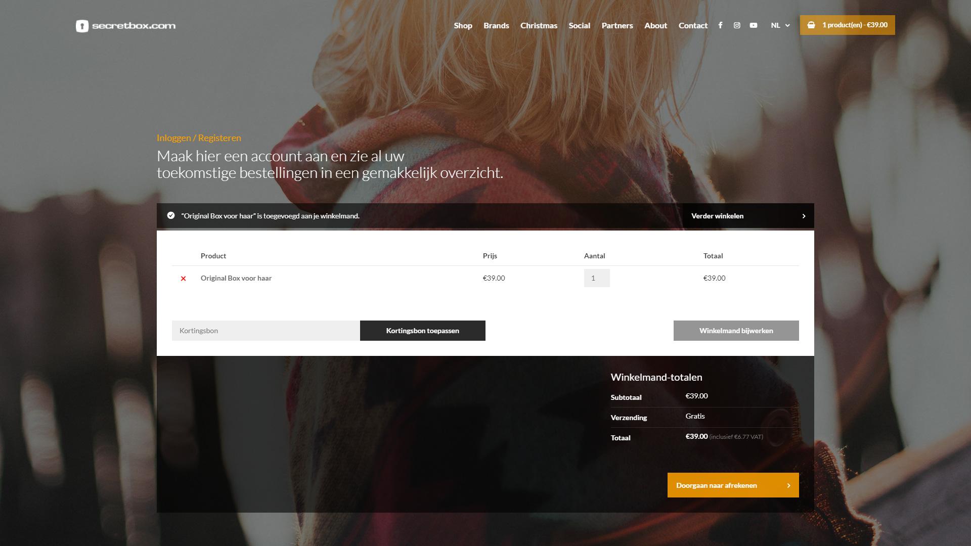 Secretbox.com - Winkelwagen