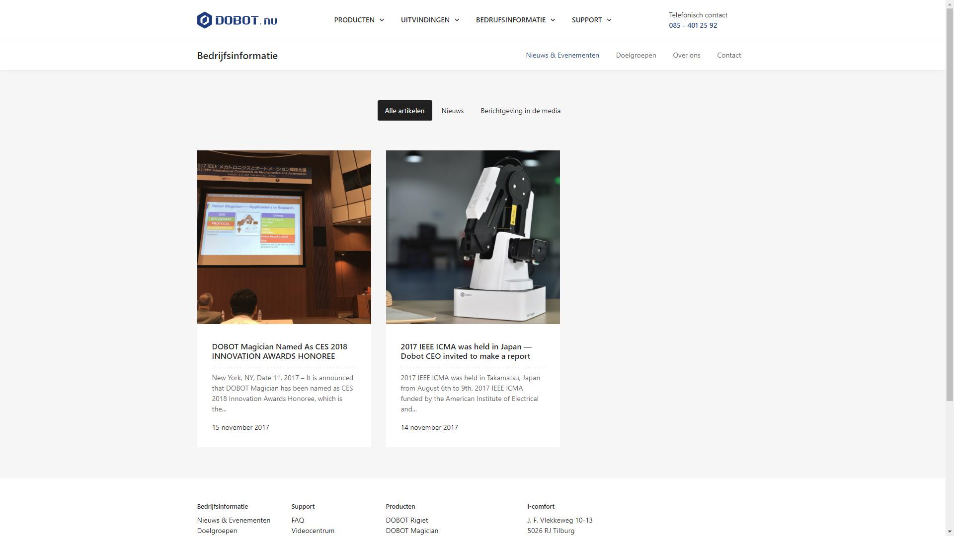 DOBOT.nu - Nieuwsoverzicht